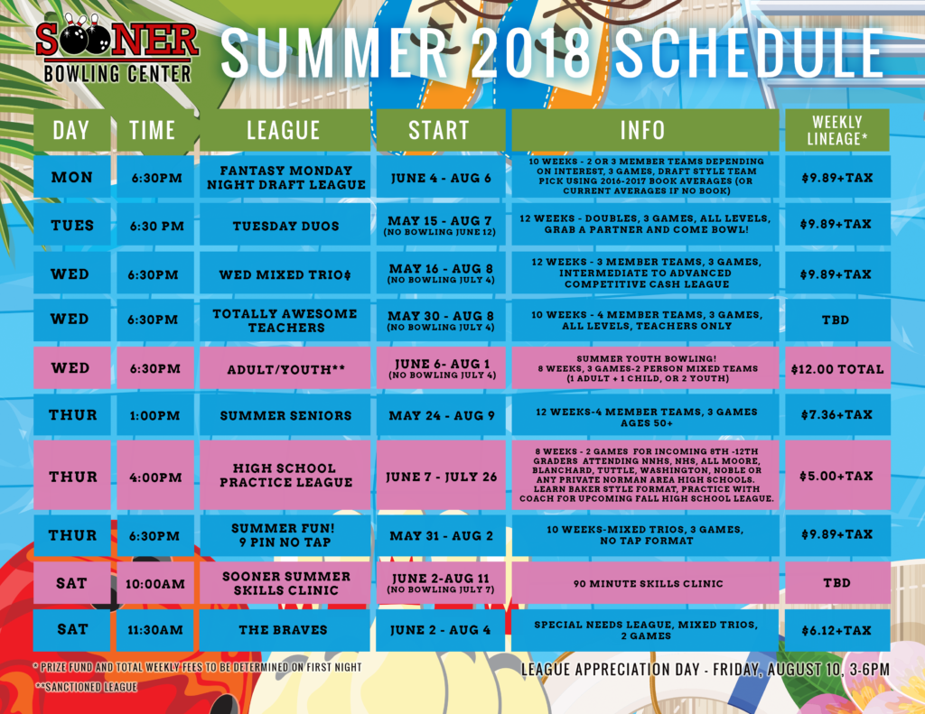Summer League Sched