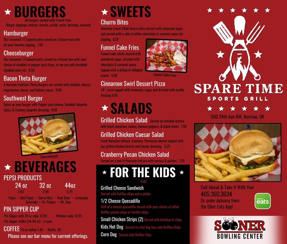 food menu - page 1