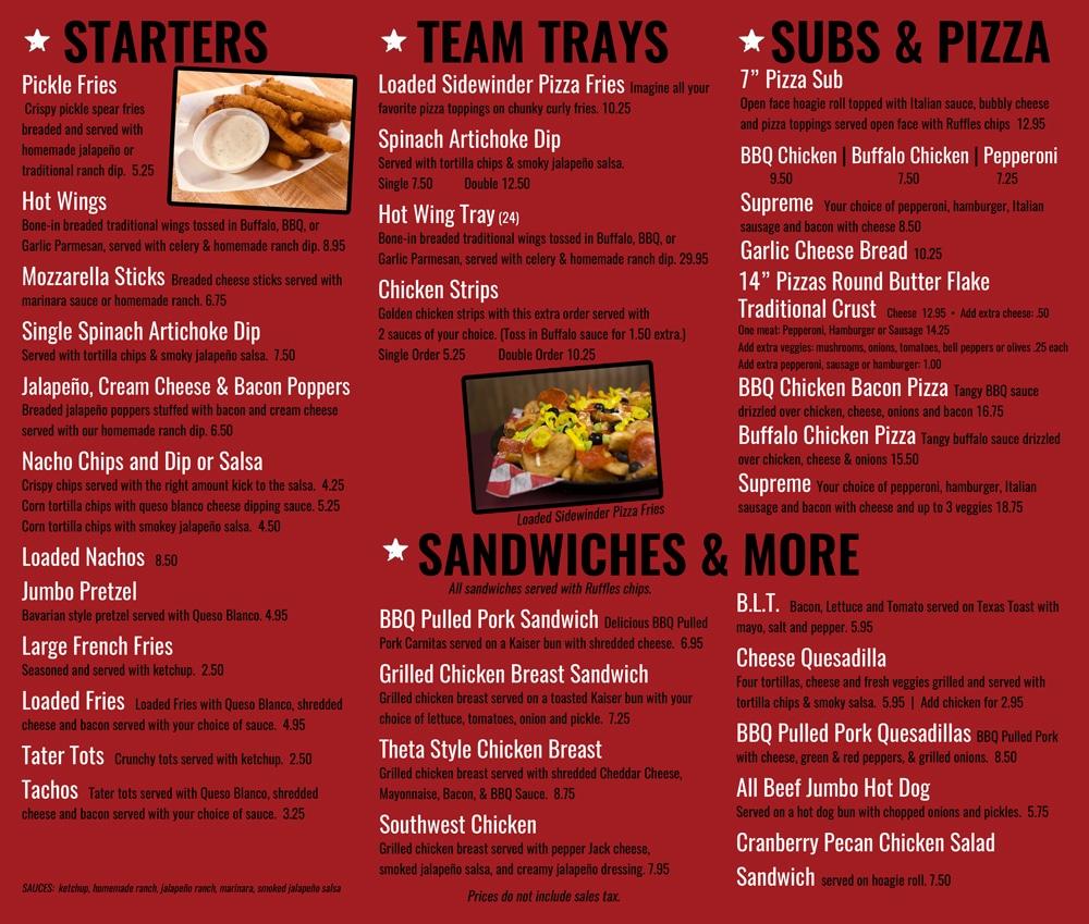 food menu - page 2